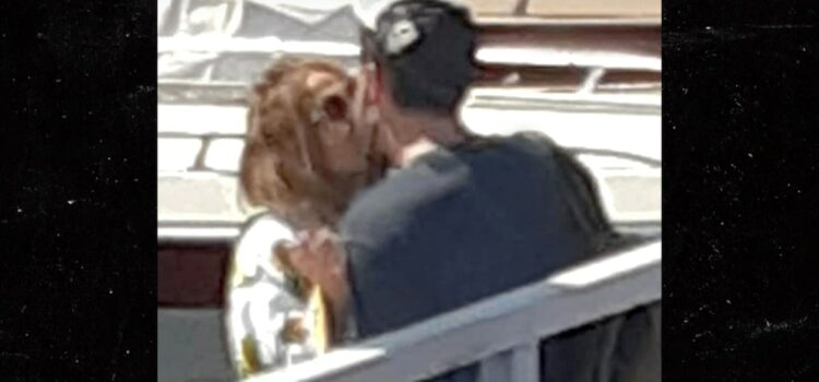 J Lo & Ben Kiss on a Dock in Naples Italy